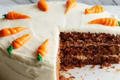 Making To Carrot Cake With Cream Cheese Frosting