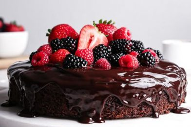 The  Layer Chocolate Cake Decoration is Extremely Simple
