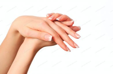 Hand Skin Care Model Standard With Only 5 Tips