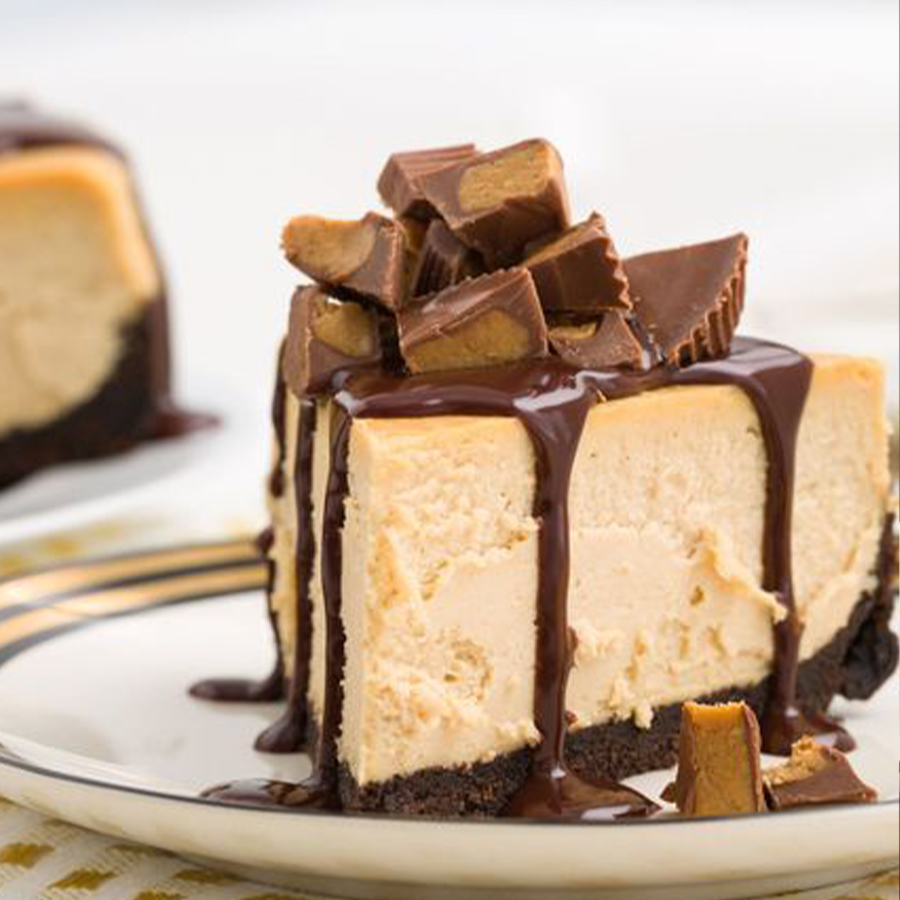 Peanut Butter Cheesecake with chocolate
