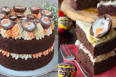 Absolutely Delicious Creme Egg Chocolate Cake
