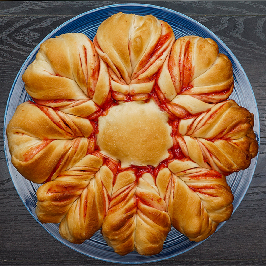Strawberry star bread how to