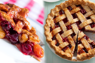When Perfect Velvet Texture Pairs Beautifully With Flaky Pie Crust – Cherry Pie With Fresh or Frozen Fruit Recipe