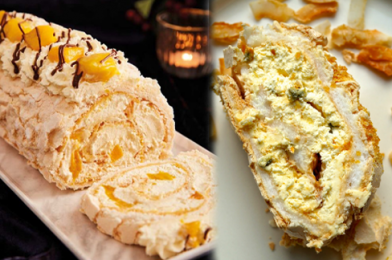 This Masterpiece Will Satisfy The Eyes Before Blowing Away Your Taste Buds – Pαssion Fruit and Mango Meringue Roulade